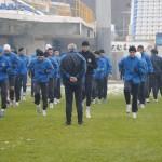 La primul antrenament din noul an al Glorie Bistriţa s-au prezentat 33 de jucători,   între care şi Alexandru Pop de la Sănătatea Cluj