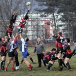 Echipa de rugby tineret a Universităţii Cluj este formată preponderent din studenţi francezi şi va juca în Divizia A / Foto: Dan Bodea
