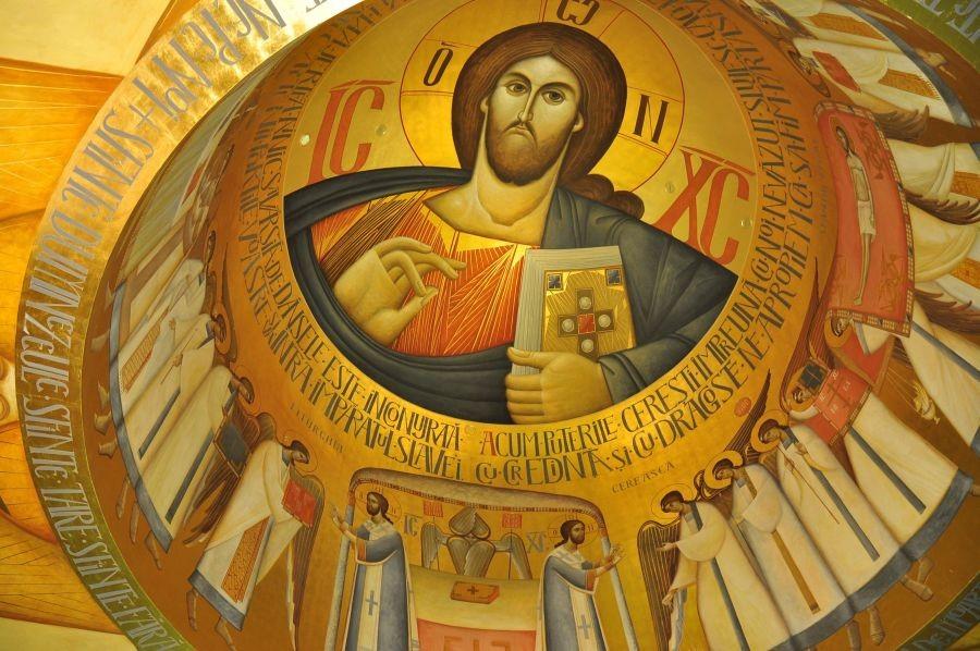 Cupola unei biserici din Alba Iulia pictată de Ioan Popa/Foto: Arhivă personală