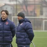 Vasile Miriuţă are motive să fie îngrijorat echipa sa,   CFR Cluj,   a pierdut cu 0-2 primul amical din Spania,   cu Dnepr / FOTO: Dan Bodea