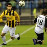 Copilul teribil al Georgiei,   Giorgi Chanturia (foto,   în galben-negru) ar putea evolua până în vară la CFR Cluj