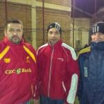 În mai puţin de o lună de zile Dănuţ Gheţa,   Ioan Teodorescu şi Cristian Podea (foto,   de la stânga la dreapta) vor absolvi cursurile Academiei Române de Rugby şi vor primi atestatul de antrenori federali