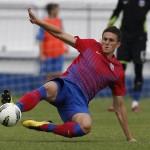Florin Gardoş a deschis scorul pentru Steaua, în victoria (3-1) cu Korona Kielce, singura victorie a roş-albaştrilor în stagiile din Spania
