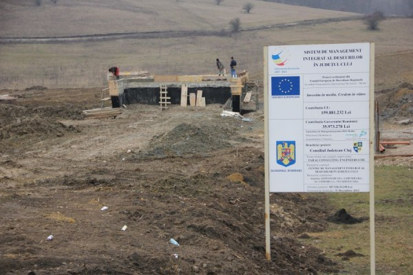 Lucrările la noua rampă de gunoi sunt gata în proporție de 70%/ Foto: Dan Bodea