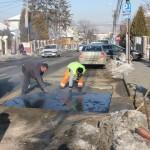 Republicii,   închisă din cauza unei avarii la reţeaua de canalizare