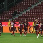 Părăsiţi de suporteri şi de sprijinul financiar al patronului Paszkany,   jucătorii CFR-ului se îndreaptă cu paşi mari spre Liga a II-a / FOTO: Dan Bodea