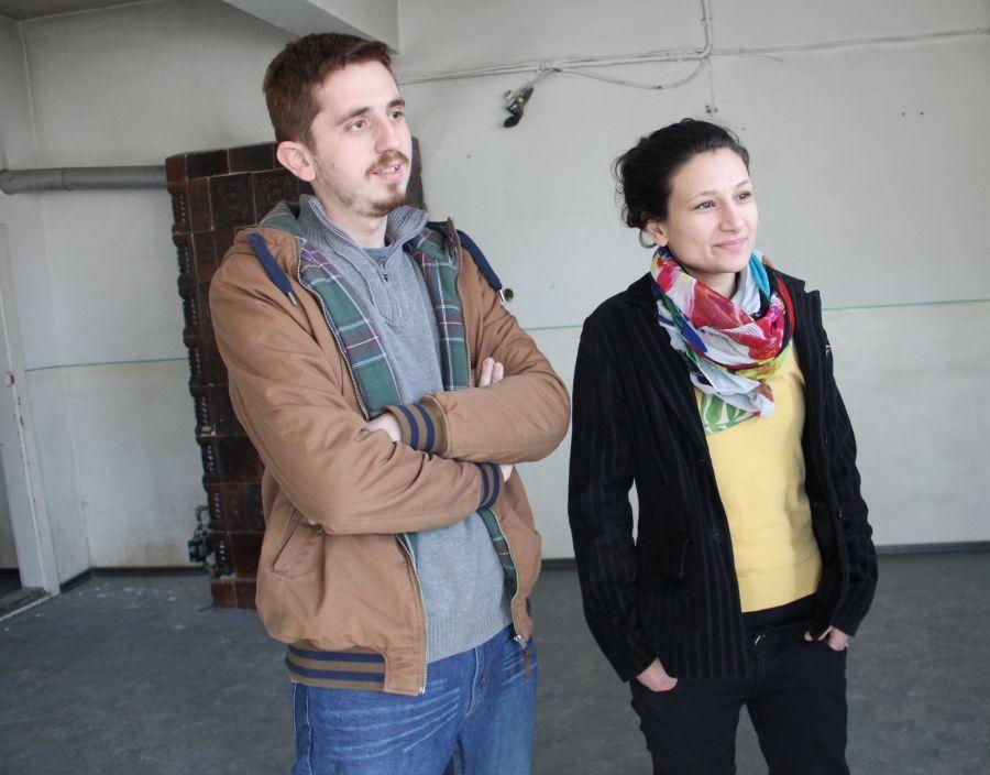 """Doru Taloș și Oana Mardare,   ''părinţii"""" spaţiului Reactor/Foto: Dan Bodea"""