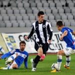 Valentin Lemnaru nu se mai opreşte,   a marcat din nou golul Universităţii,   în egalul (1-1) cu Concordia Chiajna / FOTO: Dan Bodea