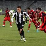 "Valentin Lemnaru (foto, la minge) a marcat unicul gol al partidei dintre ""U"" Cluj şi Astra Giurgiu / FOTO: Dan Bodea"