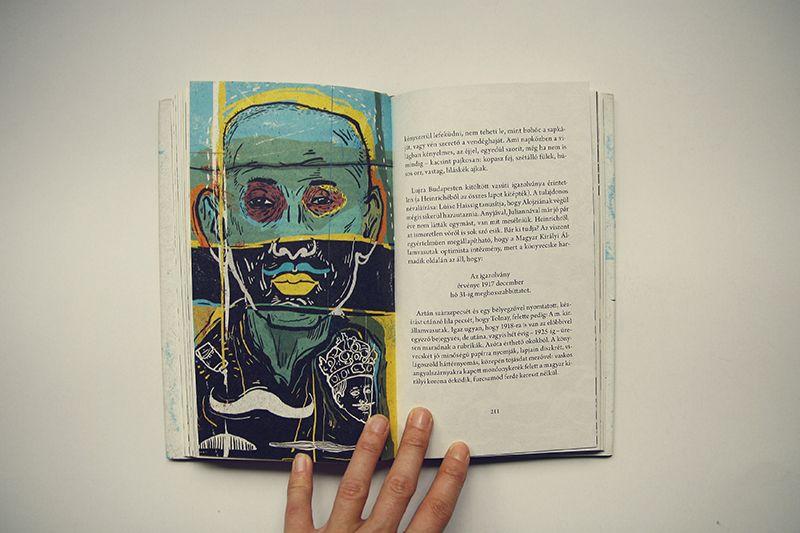 """""""A homalyban maradas osztone / Instinctul de a rămâne în umbră"""" (concepție grafică: Kristina Hajdu,   ilustrații: Zsolt Vidak,   publicată de editura Bookart) Foto: http://celemaifrumoasecarti.ro/"""