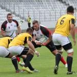 Rugbyştii de la Universitatea Cluj au pierdut primul amical din stagiul de pregătire de la Bucureşti,   scor 12-31 cu CSM / FOTO: Dan Bodea