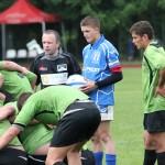 """La cei 18 ani ai săi Gabriel Marinca (foto,   în albastru) este considerat urmaşul lui Cristian Podea,   căpitanul echipei de rugby """"U"""" Cluj / FOTO: Dan Bodea"""