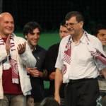 Ştefan Gadola (foto, în dreapta) a plătit jumătate din datoriile CFR-ului, iar clubul clujean va primi licenţă pentru a evolua şi în sezonul viitor în Liga I