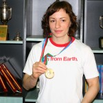 Până să câştige a patra medalie europeană de bronz luptatoarea Ana Maria Pavăl a suferit o intervenţie chirurgicală, a trebuit să slăbească 9 kilograme şi s-a antrenat cu lotul naţional de juniori / FOTO: Dan Bodea