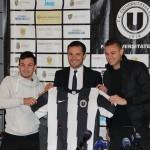 Transferul lui Marius Martac (foto,   primul din stânga) le-a adus numai probleme oficialilor de la Universitatea Cluj / FOTO: Dan Bodea
