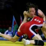 Luptătoarea Ana Maria Pavăl,   legitimată la CSM Cluj,   a obţinut prima medalie pentru România,   la Campionatele Europene din Finlanda,   bronz la categoria 53 de kilograme / FOTO: Dan Bodea