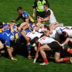 """Rugbyştii de la """"U"""" nu au făcut faţă vântului puternic şi ploii torenţiale şi au cedat cu 11-33 meciul disputat în faţa campioanei României,   RCM Timişoara"""