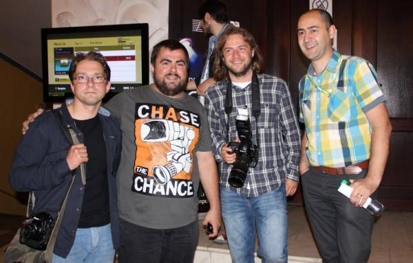 De la dreapta la stânga: Marius Smădu,   Dan Tăuțan,   Mircea Roșca și Raul Ștef/Foto: Dan Bodea