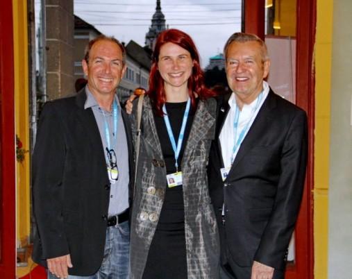 Michael Kutza,   Cristina Flutur şi Giora Bejach,   la deschiderea TIFF/Foto: Dan Bodea