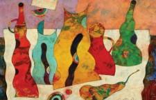 Natură statică cu vase şi fructe,   Harry Guttman
