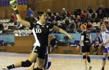 Florina Chintoan a contribuit cu 6 goluri la victoria Universității Cluj în fața Rapidului  / FOTO: Dan Bodea