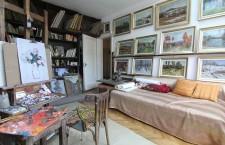 Atelierul de pictură al artistului Ştefan Boca/Foto: Dan Bodea