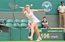 Simona Halep a trecut în doar o oră de joc de Zarina Diyas,   scor 6-3,   6-0 și s-a calificat în sferturile turneului de la Wimbledon