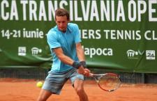 Favoritul numărul 2 al turneului futures BT Tropfy,   Mathias Bourge (foto),   a avut nevoie de 3 seturi pentru a-l elimina pe Alexandru Carpen din optimile de finală al întrecerii / Foto: Dan Bodea