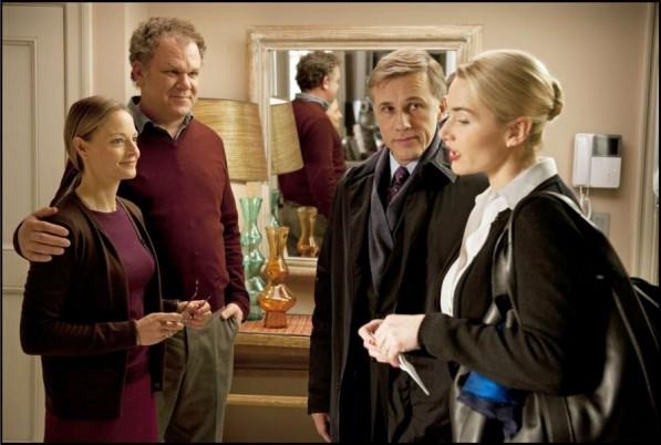 "Jodie Foster,   Kate Winslet,   John C. Reilly şi Christoph Waltz în filmul ""Carnage"""