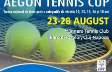 Peste 100 de tenismeni juniori din România se întâlnesc, la Cluj, la Aegon Tennis Cup