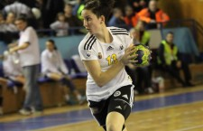 """Centru echipei """"U"""" Jolidon Cluj, Cristina Laslo, a marcat cel mai frumos gol din finala Campionatului Mondial de junioare, câştigată de România în faţa Germaniei, cu scorul de 32-21 / Foto: Dan Bodea"""