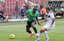 Gregory Tade a marcat golul pentru 2-0 în victoria CFR-ului,   scor 2-0,   în meciul cu Viitorul Voluntari / Foto: Dan Bodea