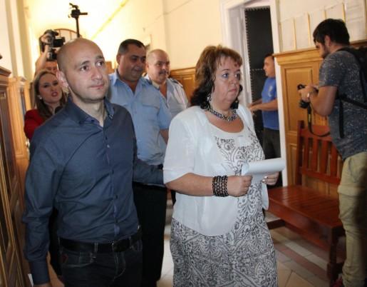 Peter Tunde a fost prezentată în fața judecătorului (Foto: Dan Bodea)