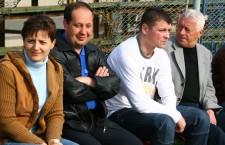 """Călin Zanc (foto,   al treilea de la stânga spre dreapat) a evoluat vreme de 7 sezoane pentru """"U"""" Cluj şi a adunat 140 de meciuri în alb şi negru / Foto: Dan Bodea"""