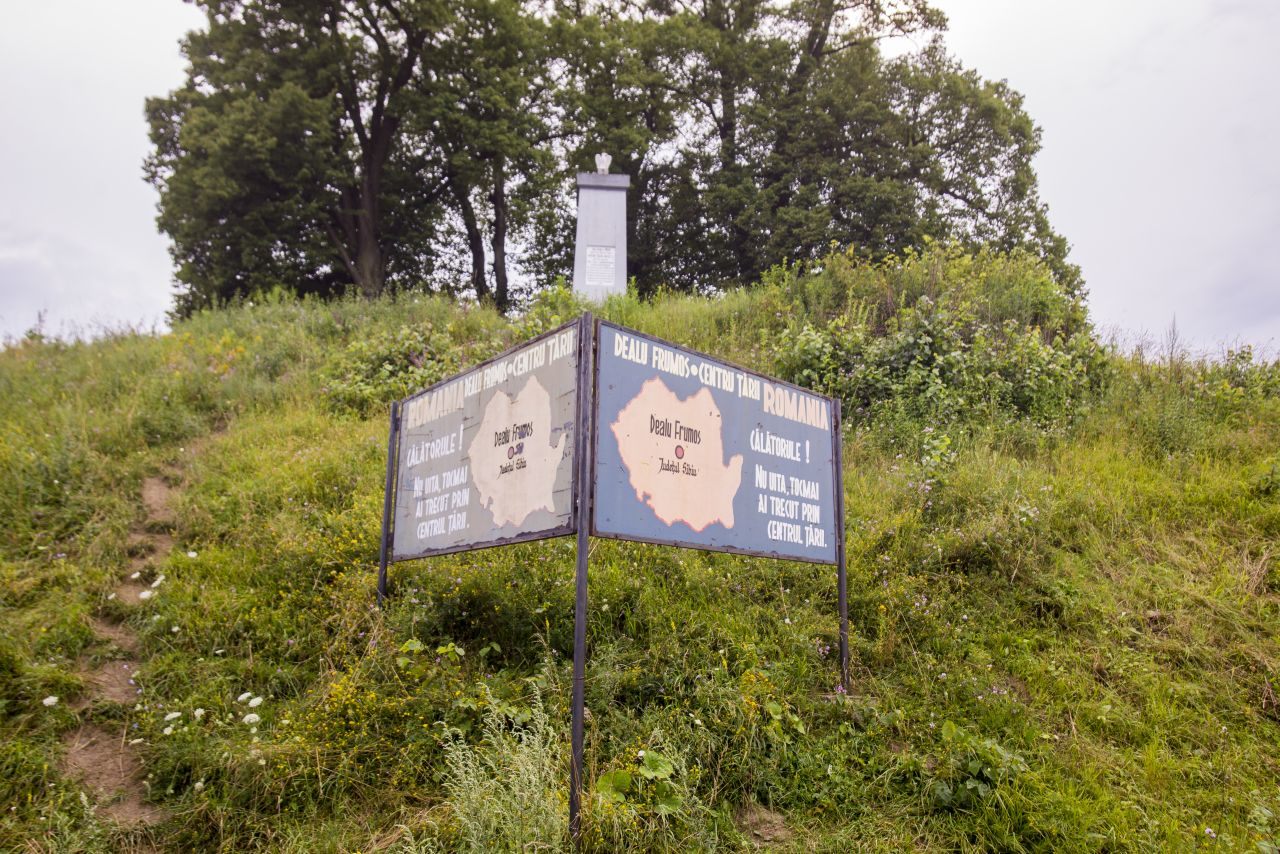 Panoul greșit gramatical din Dealu Frumo/ Foto: Vakarcs Lorand
