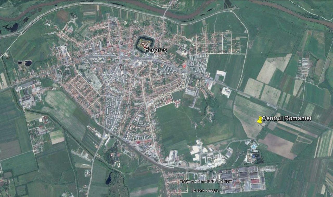 Centrul României,   potrivit calculelor realizate de conferențiarul universitar Ioan Rus