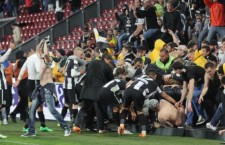 Suporterii Universităţii Cluj nu vor mai avea acces în tribunele stadionului Dr Constantin Rădulescu, ei vor putea urmări partida doar din sectorul rezervat galeriilor echipelor vizitatoare / Foto: Dan Bodea