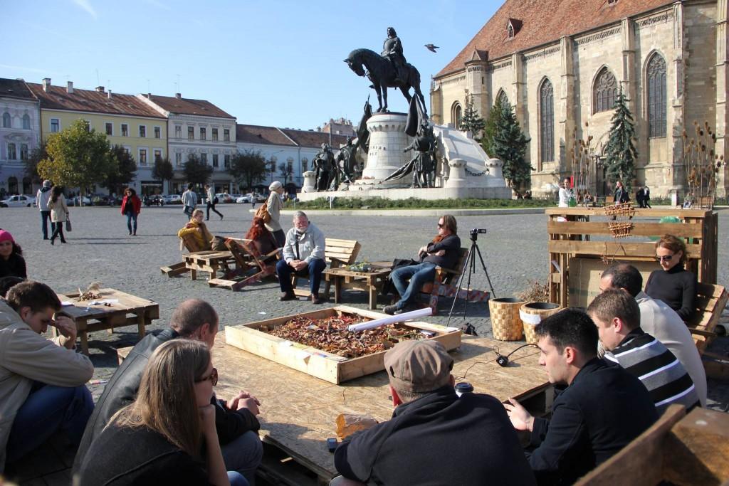 """Noi doream ca Clujul să fie primul oraș care să aibă un cartier verde,   dar dacă nu se poate,   vom încerca să facem acest lucru într-un alt oraș unde vom găsi mai multă deschidere"""",   a spus Horațiu Răcășan. / Foto: Dan Bodea"""