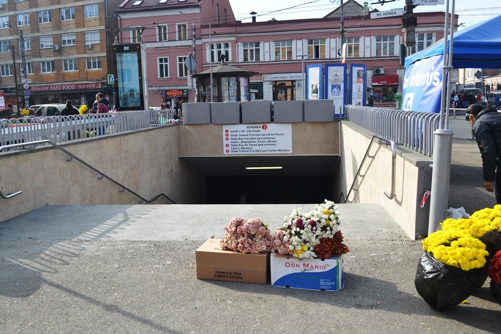 Pasajul pietonal subteran din Piața Gării/ Foto: Maria Man