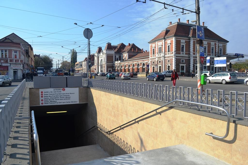 Pasajul pietonal subteran din Piața Gării a fost modernizat. / Foto: Maria Man