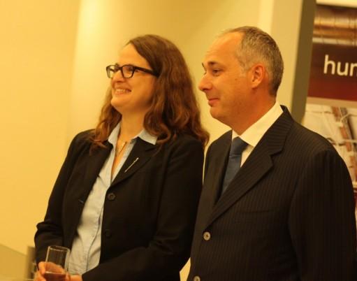 Bettina Plassmann,   Managing Director Steelcase Cluj-Napoca și Christophe Weller,   Managing Partner COS/Foto: Cristina Beligăr