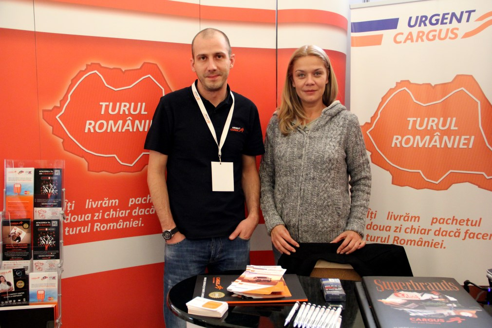 Robert Tănase,   Manager Account Executiv Cargus-Urgent și Nadia Homoc,   director comercial Cargus-Urgent / Foto: Dan Bodea