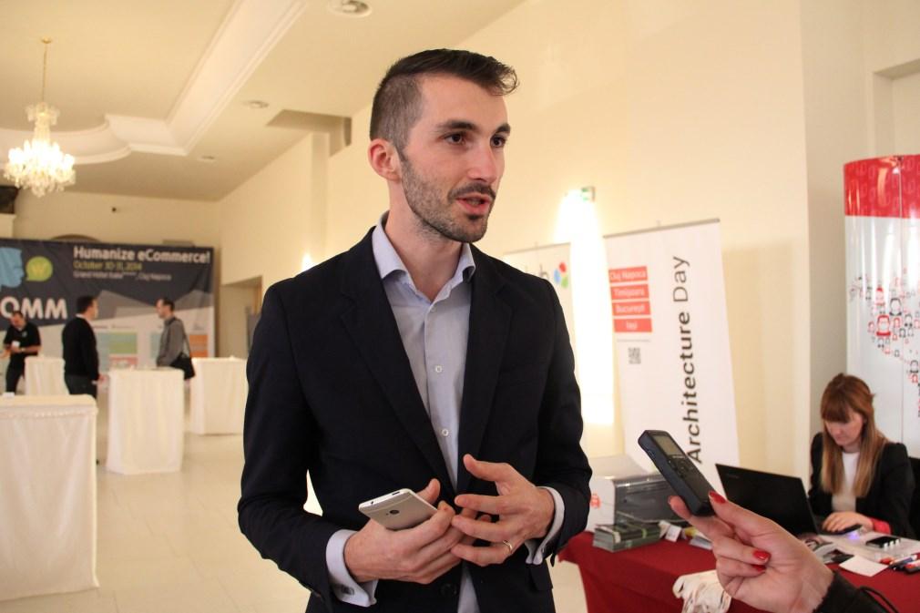 Organizatorul TeCOMM; Bogdan Cecean / Foto: Dan Bodea