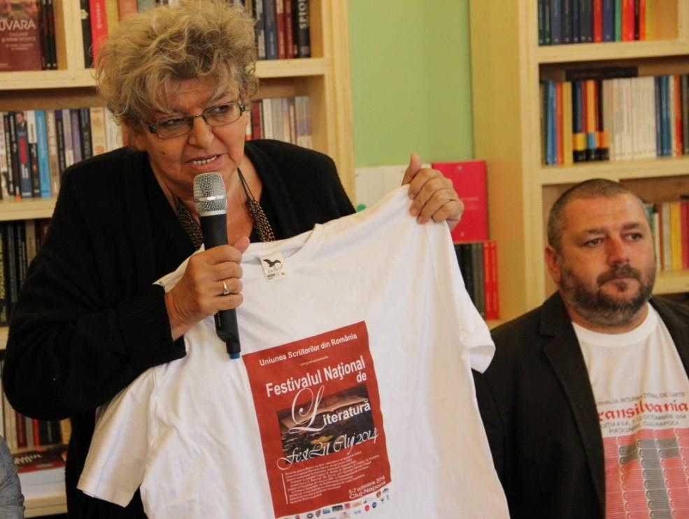 Irina Petraş,   Preşedinta Uniunii Scriitorilor din România Filiala Cluj / Foto: Dan Bodea