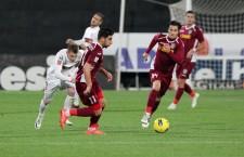 Giorgi Chanturia (foto,   cu numărul 11) a marcat un gol în victoria CFR-ului,   scor 2-1,   în derbiul cu Dinamo din etapa a XI-a a Ligii I / Foto: Dan Bodea