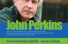"""John Perkins,   """"asasinul economic"""",   vorbește la Cluj despre criza economică globală"""