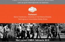EMBA 100% britanic în Cluj-Napoca. Care sunt condițiile pentru înscrieri