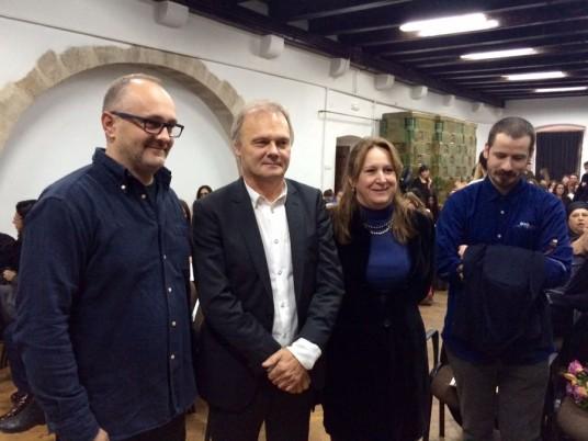 De la dreapta la stânga: Mircea Suciu,   Maria Rus Bojan,   Frank Demaegd şi Florin Ştefan