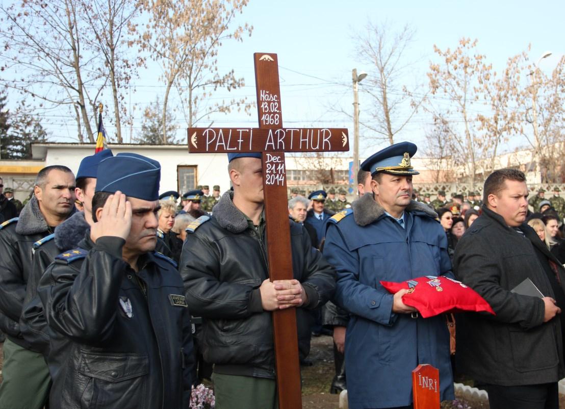 Funeraliile comandantului Artur-Grigore Palfi,   24 noiembrie 2014 / Foto: Dan Bodea