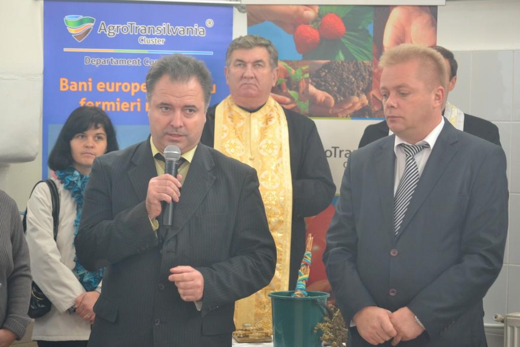 Vakar Istvan,   președintele interimar al Consiliului Județean Cluj,   și Ioan Oleleu,   Președinte AgroTransilvania Cluster